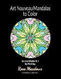 Art Nouveau Mandalas to Color: Beardsley Collection No. 1