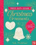 Press Out & Color Christmas Ornaments