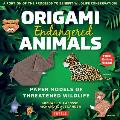 Origami Endangered Animals Kit: Paper Models of Threatened Wildlife [includes Instruction Book with Conservation Notes, 48 Sheets of Origami Paper, Fr