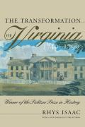 Transformation Of Virginia 1740 1790