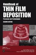 Handbook of Thin Film Deposition Techniques: Principles, Methods, Equipment and Applications (Materials Science and Process Technology Series)