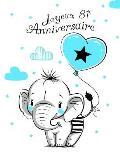 Joyeux 81e Anniversaire: Mieux qu'une carte d'anniversaire! ?l?phant mignon avec ballon bleu, livre d'anniversaire pouvant servir de carnet ou