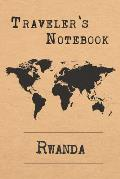 Traveler's Notebook Rwanda: 6x9 Travel Journal or Diary with prompts, Checklists and Bucketlists perfect gift for your Trip to Rwanda for every Tr