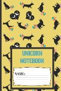 Unicorn Notebook: Unicorn composition notebook 120 pages (6 x 9 Inch). unicorn Cats & Dogs journal for woman and girls to write in.