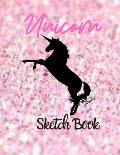 Unicorn Sketch Book: Pretty Pink Princess Journal Notebook Draw, Write, Doddle, Diary, Jotter, Blank pages 120 pages Children Girls Special