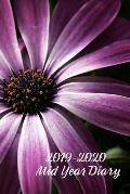 2019-2020 Mid Year Diary: African Daisy Academic Year Planner (6x9 Page-a-Day A5 Paperback)
