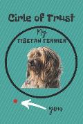 Circle of Trust My Tibetan Terrier Blank Lined Notebook Journal: A daily diary, composition or log book, gift idea for people who love Tibetan Terrier