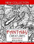 Fantasy Creatures Coloring Book: A Magnificent Collection Of Extraordinary Mythical Legendary Fantasy Creatures For Adult Inspiration And Relaxation