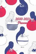 2020-2021 Meow Planner: 2-Year Monthly Planner 6x9 Inches Pocket Size - Agenda Planner For 24 Months Calendar, Appointment Notebook - Schedule