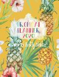Tropical Planner 2020, Weekly and Monthly Calendar: Yellow - 2020 Monthly Planner - 2020 Weekly Calendar - Pineapple Planner - 8.5 x 11 Inches