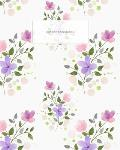 Composition Notebook: Happy Summer Flowers Pattern, Blank Lined Journal, 120 Pages, 8x10