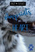 Pawprints On My Heart 7: Glossy Photo Cover Detail of Blue Merle Fur, 6x9 journal with 160 lined pages for Animal Lovers
