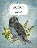 Sketch Book: Owl Sketchbook Scetchpad for Drawing or Doodling Notebook Pad for Creative Artists Blue #2