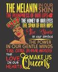 Black Girl Magic Notebook Journal: Melanin In Our Skin Makes Us Queens - Wide Ruled Notebook - Lined Journal - 100 Pages - 7.5 X 9.25 - School Subjec
