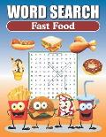 Word Search Fast Food: Large Print Word Find Puzzles
