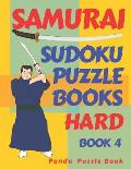 Samurai Sudoku Puzzle Books Hard - Book 4: Sudoku Variations Puzzle Books - Brain Games For Adults