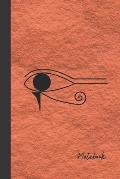 Notebook: small lined Egyptian Eye Notebook / Travel Journal to write in (6'' x 9'') 120 pages