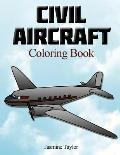 Civil Aircraft Coloriong Book