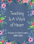 One Page Per Day Dated Teacher Planner Lesson Planner - (Aug 2019 - July 2020) - 7 Subjects Per Day, For All Countries (USA, UK, Canada And Others)