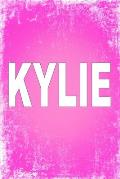Kylie: 100 Pages 6 X 9 Personalized Name on Journal Notebook