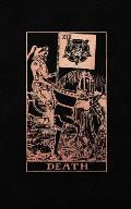 Death: Tarot Card Journal, Black and Rose Gold - College Ruled Tarot Card Notebook, 5 x 8