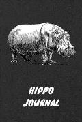 Hippo Journal: Journal DIN A5 120 Seiten gepunktet Dotgrid I Notizblock Hippoliebhaber und Liebhaber f?r Nilpferd oder Hippo I Dankba