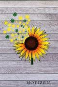 Notizen: Sonnenblume Sunflower Hanf DIN A5 120 Seiten Punkteraster Notizblock Liebhaber f?r Sonnenblumen Sunflowers Notizheft D