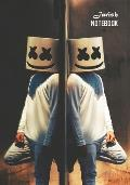 Notebook: Marshmello Medium College Ruled Notebook 129 Pages Lined 7 X 10 in (17.78 X 25.4 CM)