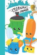 Cleaning Chores: Kids Chore Chart Tracker Log Book for Boys and Girls