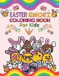 Easter Emoji Coloring Book for Kids: Easter Coloring Pages, Connect the Dot Puzzles, Catch the Easter Bunny Mazes, Egg Hunt Spot the Differences and C