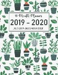 18 Month Planner July 2019-December 2020: Academic Agenda Planner Daily Weekly Organizer Time Management Schedule for Teacher, Student with Cactus Cov