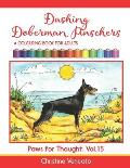 Dashing Doberman Pinschers: A Colouring Book for Adults