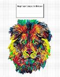 Graph Paper Composition Notebook: Quad Ruled 5 Squares Per Inch, 110 Pages, Lion Head Cover, 8.5 x 11 inches / 21.59 x 27.94 cm