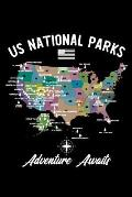 National Parks Us: Travel Journey, Notebook, Road Trip Planner, Adventure Notes, Camping Memory, Gifts for Campers RV