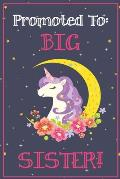 Big Sister Journal - Big Sister Notebook: with MORE UNICORN ARTWORK INSIDE this unicorn draw and write journal / new big sister unicorn journal / I'm