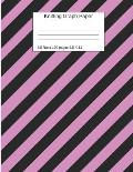 Knitting Graph Paper: Pink Black Striped Notebook 4:5 Ratio 120 Pages 8.5 X 11