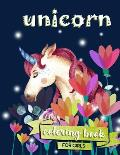 Unicorn Coloring Book: For Girls 100 coloring pages, 8.5 x 11 inches