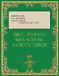 Small Business Book-Keeping Accounts Ledger: Large Book-keeping ledger for the small business and self-employed - Green and Gold Colour Bee Cover