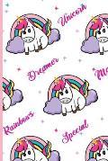 Unicorn Dreamer Magical Rainbows Special Notebook: Cute Unicorn Rainbow Notebook