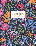 2019-2022 Monthly Planner: Large Academic Year Planner with Inspirational Quotes and Flower Coloring Pages, Volume 2 (July 2019 - June 2022)