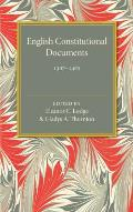 English Constitutional Documents, 1307-1485