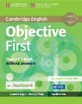 Objective First Student's Book Without Answers with Testbank [With CDROM]