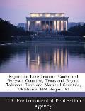 Report on Lake Texoma, Cooke and Garyson Counties, Texas and Bryan, Johnson, Love and Marshall Counties, Oklahoma: EPA Region VI