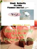 Black Butterfly Monthly Planner Journal