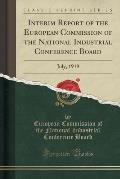 Interim Report of the European Commission of the National Industrial Conference Board: July, 1919 (Classic Reprint)