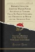 Reports Upon the Existing Water-Power Situation at Niagara Falls, So Far as Concerns the Diversion of Water on the American Side (Classic Reprint)