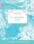 Adult Coloring Journal: Gam-Anon/Gam-A-Teen (Nature Illustrations, Turquoise Marble)