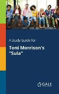 A Study Guide for Toni Morrison's Sula