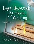 Legal Research, Analysis, and Writing [With CDROM]