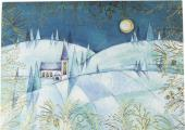 Moonlit Steeple Deluxe Boxed Holiday Cards